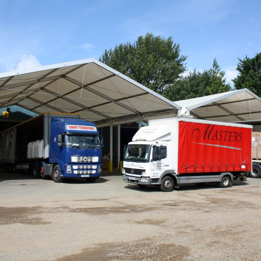 Loading Canopies, Masters Logistical, Ely - 2