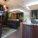 ground floor sales area of bespoke marketing suite