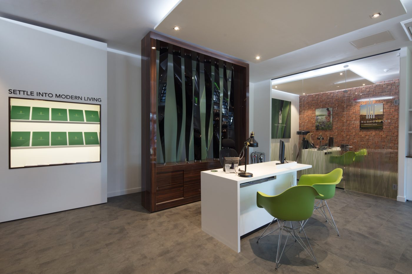 interior of bespoke marketing suite