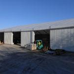 exterior of temporary warehouse