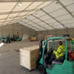 interior of temporary warehouse