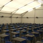 Temporary Sports Hall for Exams
