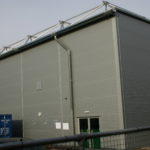 Temporary Sports Hall Exterior
