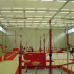 Temporary Sports Hall Interior Gymnastics