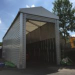 Temporary Warehouse with 6m Eave