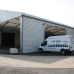 Temporary Warehouse with 10m wide aperture