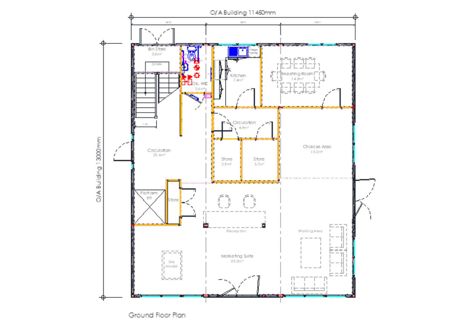 Drawing of marketing suite