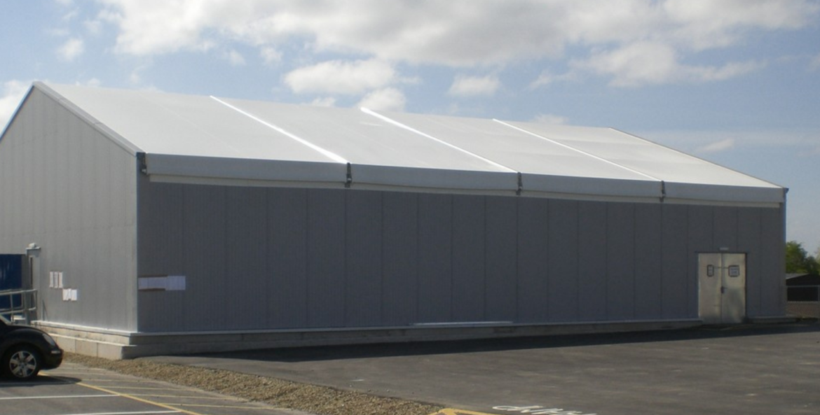 Example of temporary building