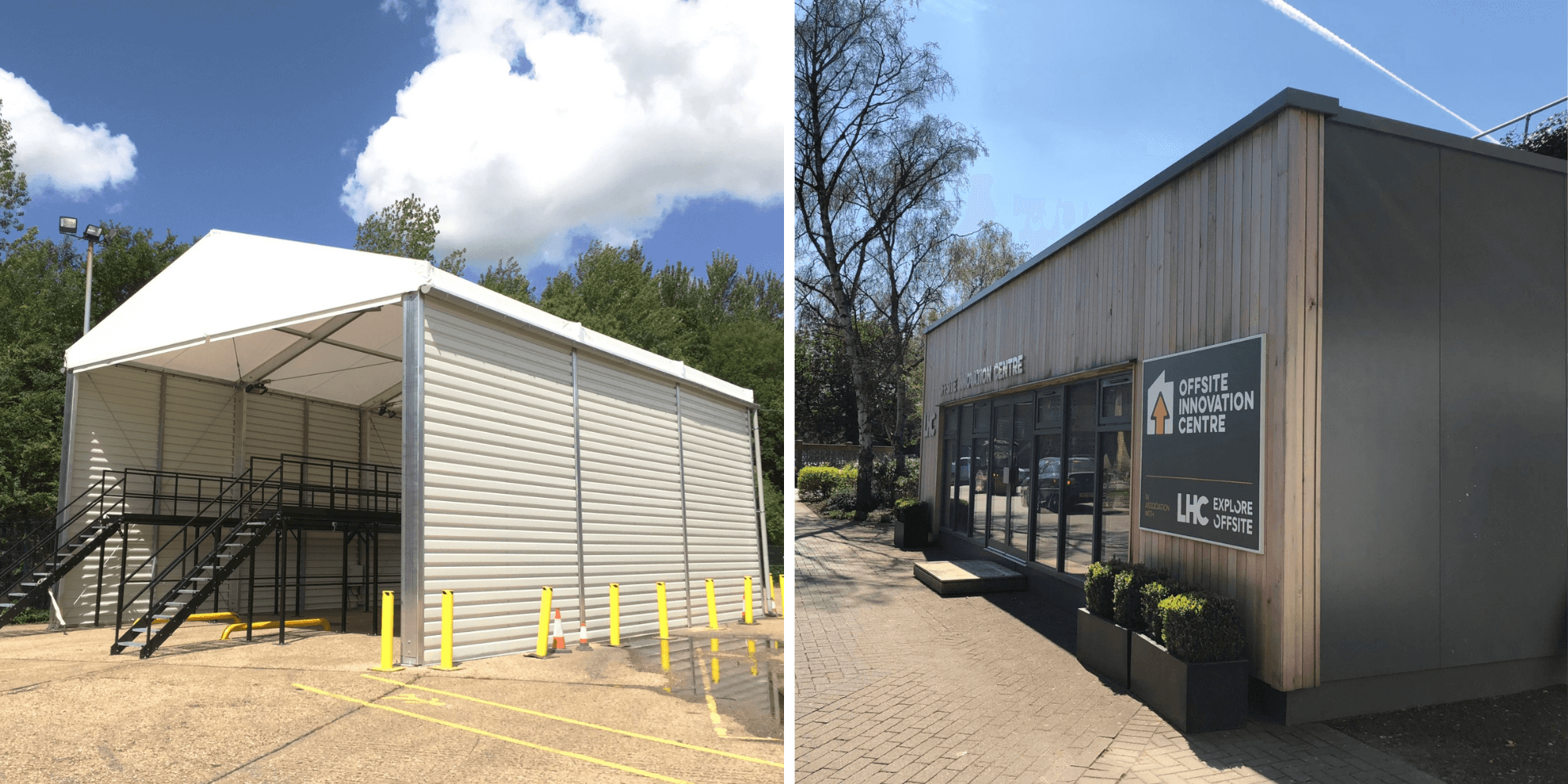 Examples of temporary buildings